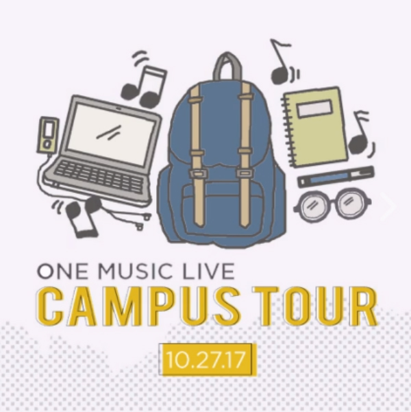 We're ready to rock your school through the One Music Live Campus Tour!