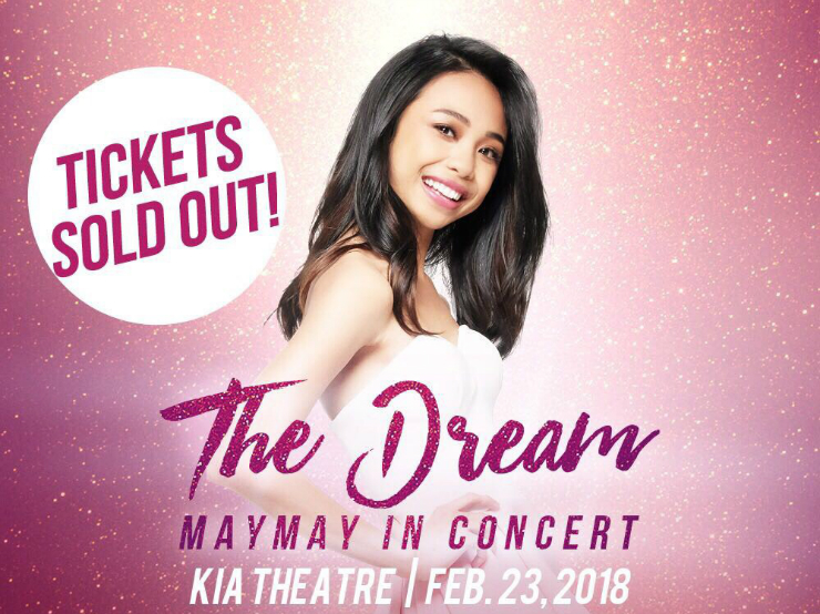 Maymay Entrata's The Dream concert tickets SOLD OUT in an hour!