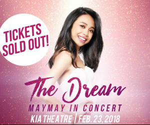 Maymay's concert tickets SOLD OUT in an hour!
