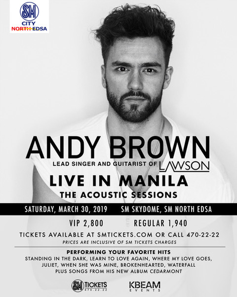 Andy Brown is coming to Manila for an acoustic show!