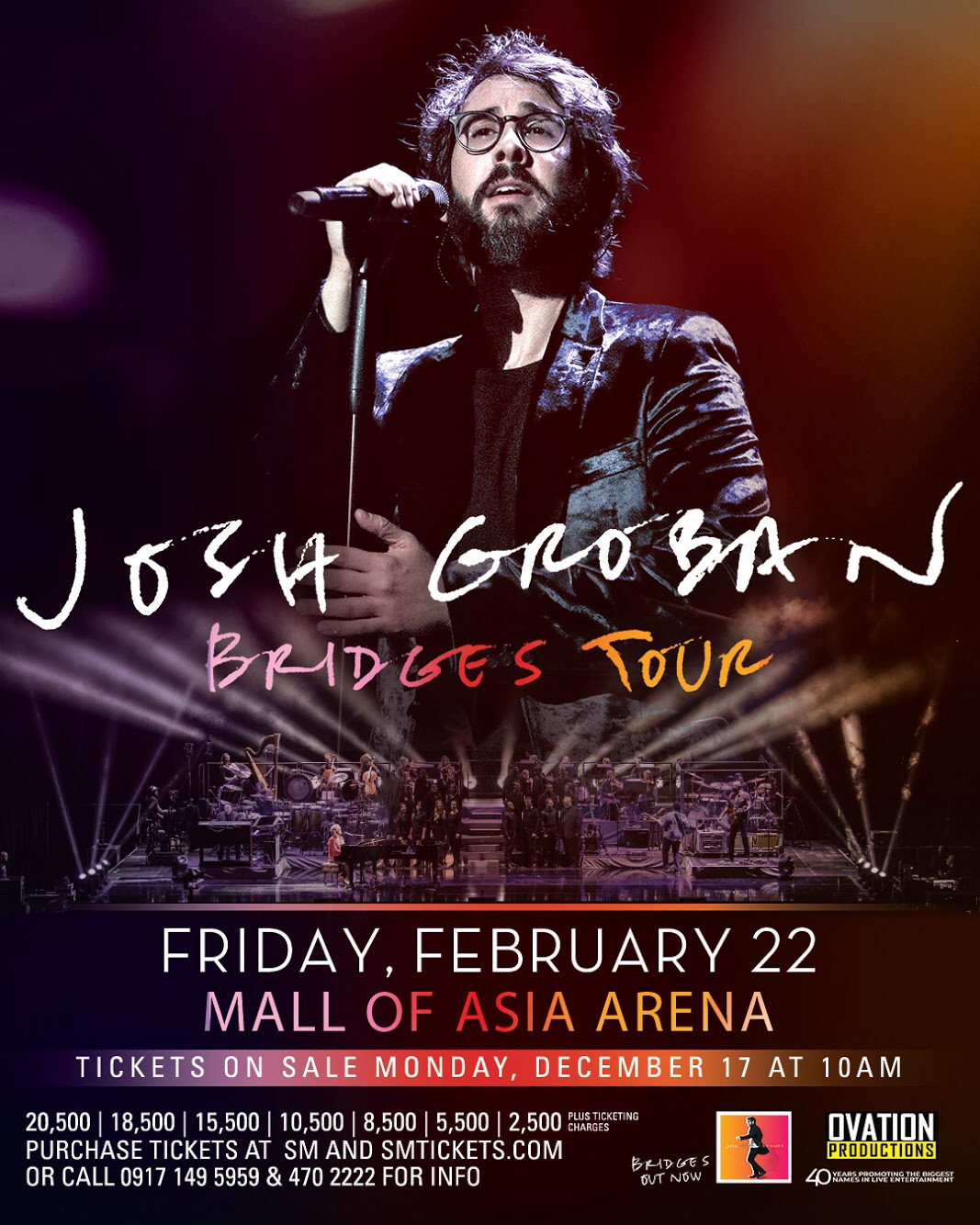 Josh Groban to hold a post-Valentine's show in Manila