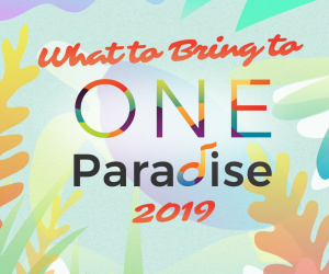 What to Bring to One Paradise 2019