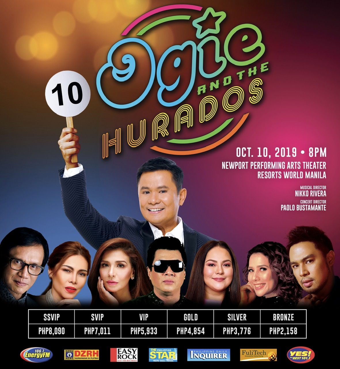 Ogie takes the Resorts World Manila's stage with your favorite Hurados this October!