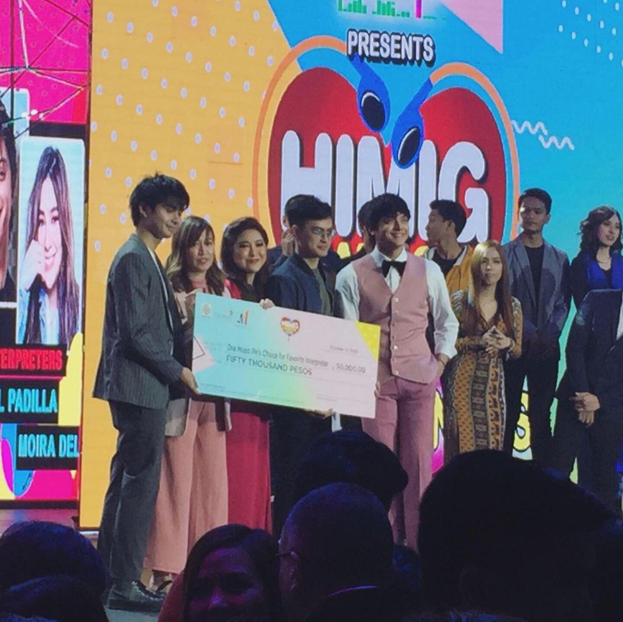 #HimigHandog2019: Daniel Padilla, Moira dela Torre win OneMusicPH's Choice for Best Interpreter