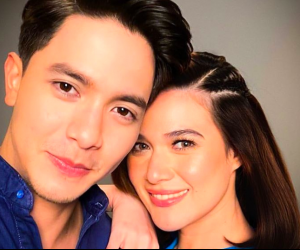 Bea Alonzo and Alden Richards together in a TV commercial