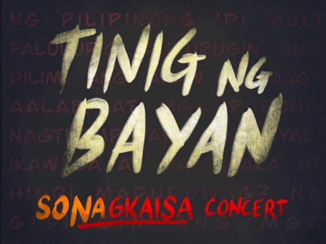 OPM artists join forces in 'Tinig ng Bayan SONAgkaisa Concert'