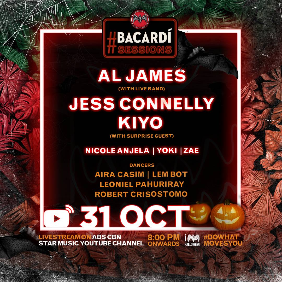 #BacardiSessions Halloween Concert: Lineup Revealed